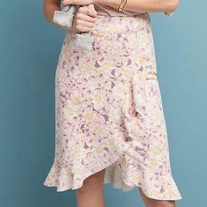 NWOT Anthropologie Skye Ruffled Skirt